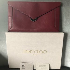 Jimmy Choo red clutch